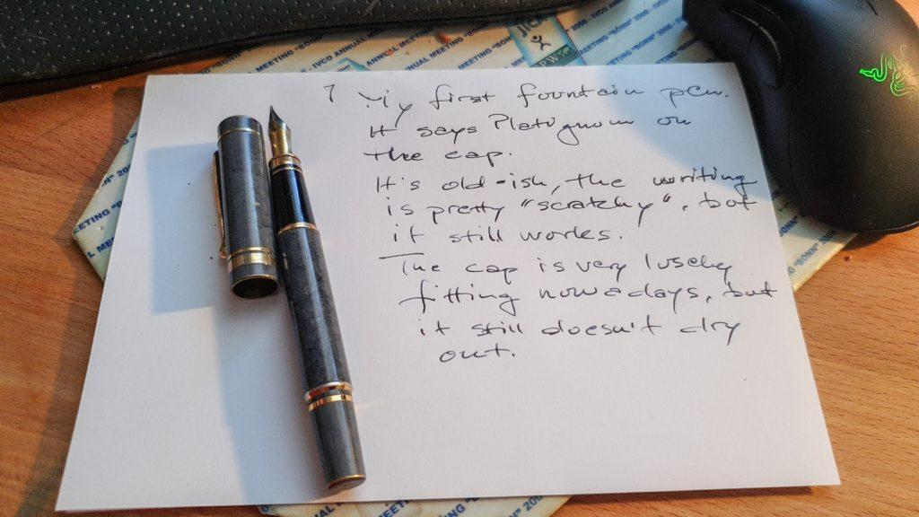 Platignum pen